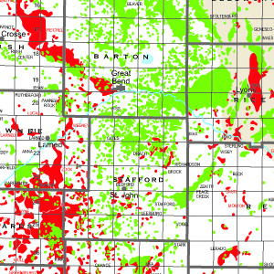 State Oil and Gas: Kansas with Sections-92