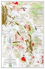 Rocky Mountain Region with Major Roads & Railroads-6