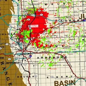 Rocky Mountain Region with Major Roads & Railroads-44