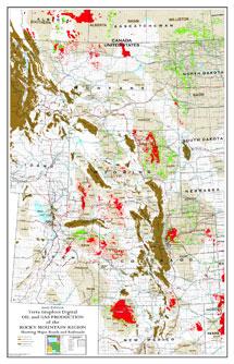 Rocky Mountain Region with Major Roads & Railroads-0