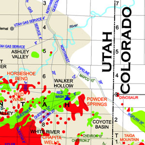 Uinta-Piceance Basins Oil and Gas Production Map-58