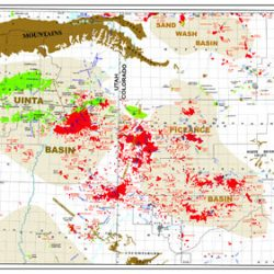 Uinta-Piceance Basins Oil and Gas Production Map-0