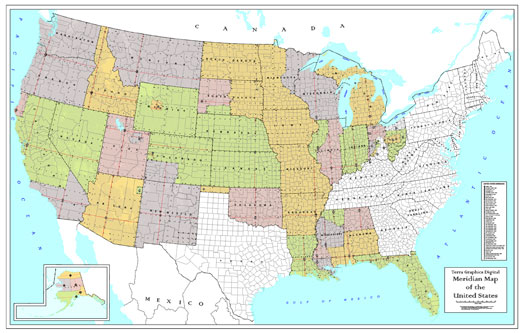 "Meridian Index Map 42"" X 66""-0"