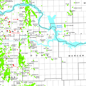 Williston Basin Oil and Gas Production Map-56