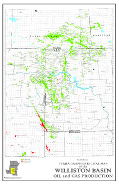 Williston Basin Oil and Gas Production Map Terra Graphics