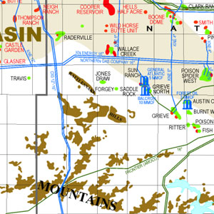 State Oil and Gas: Wyoming with Pipelines and Facilities-50